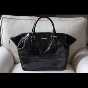 Kate Spade ♠️ Ostrich patent leather satchel bag